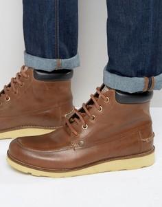 Original Penguin Boots In Tan Leather - Рыжий
