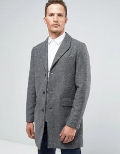 Пальто-премиум с узором в елочку Jack & Jones - Серый