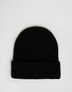 Черная шапка-бини 7X - Черный