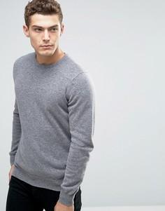 Джемпер с круглым вырезом из 100% мериносовой шерсти United Colors of Benetton - Серый