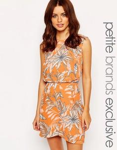 Комбинезон с пальмовым принтом Vero Moda Petite - Оранжевый