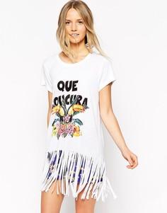 Пижамный комплект с шортами Chelsea Peers Toucans - Фиолетовый