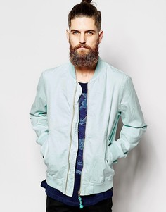 Окрашенная после пошива хлопковая куртка-пилот Scotch & Soda - Синий