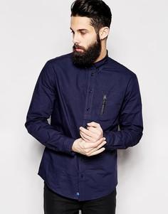 Рубашка с карманом на молнии 2xH Brothers - Синий