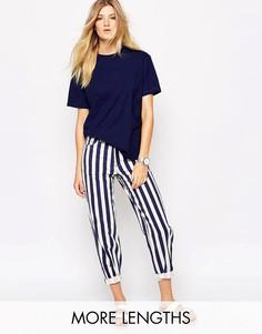 Подвернутые джинсы бойфренда с широкими штанинами и принтом в полоску Bethnals Charlie Co-Ord - Мульти