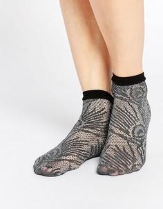 Носки с павлиньим принтом Jonathan Aston - Серый