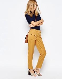 Укороченные брюки с завышенной талией The Laden Showroom X Even Vintage - Желтый