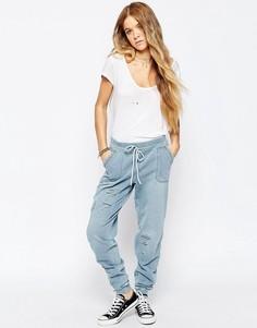 Светлые свободные брюки в стиле милитари Blank NYC Tinder Bombing - Синий