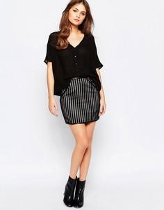 Кружевная юбка в полоску Goldie Down The Line - Черный
