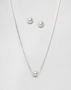 Набор из ожерелья и сережек с жемчугом Johnny Loves Rosie - Золотой
