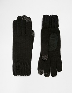 Totes Knitted Gloves With 3 Finger Smartouch - Черный