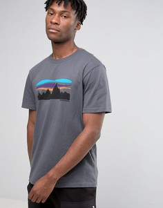 Patagonia T-Shirt With Fitz Roy Banner Logo In Regular Fit Grey - Серый
