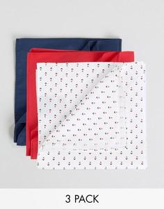 Набор из 3 платков для нагрудного кармана Devils Advocate - Синий