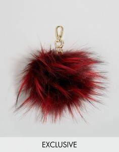 Пушистая оversize-подвеска для сумки Skinnydip - Красный
