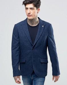 Scotch & Soda Blazer With Fleck In Wool Navy - Темно-синий
