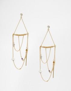 Броские серьги Orelia - Золотой