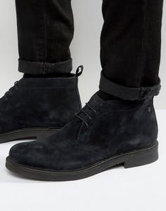 Замшевые ботинки чукка Base London Rufus - Черный
