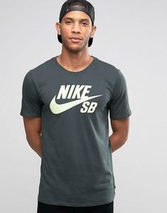 Зеленая футболка с логотипом Nike SB 821946-364 - Зеленый