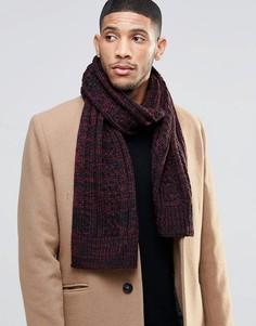 Красный меланжевый шарф Threadbare - Красный