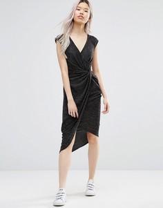 Платье с асимметричной кромкой Wal G - Серый