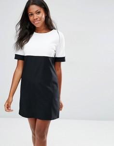 Цельнокройное платье в стиле колор блок Daisy Street - Черный