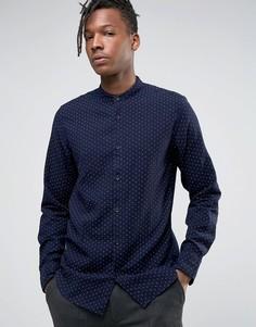 Рубашка классического кроя с воротником на пуговице Selected Homme - Темно-синий