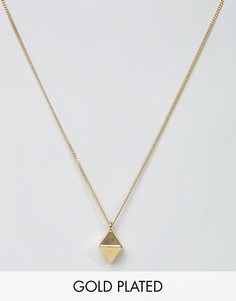 Lovebullets Diamond Shape Pendant Necklace In Gold - Золотой