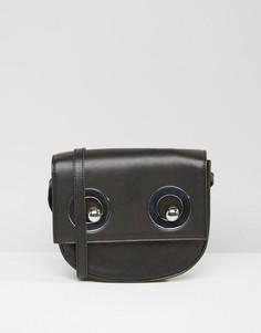 Monki Eyelet Detail Cross Body Bag - Черный