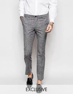 Зауженные брюки из твида в крапинку Noak - Серый