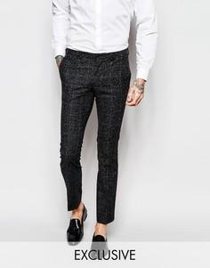 Зауженные брюки в крапинку Noak - Серый