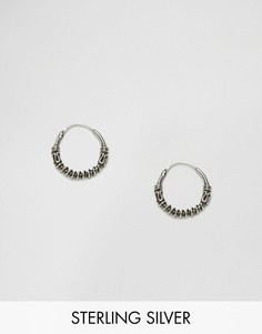 Kingsley Ryan Wire Twist Sterling Silver Hoop Earrings - Серебряный