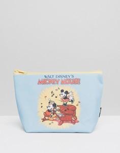 Косметичка с принтом Микки Мауса в стиле ретро - Бесцветный Beauty Extras