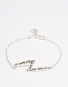 Посеребренный браслет с кристаллами Pilgrim - Серебряный