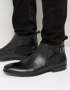 Черные кожаные ботинки челси с пряжками KG by Kurt Geiger - Черный