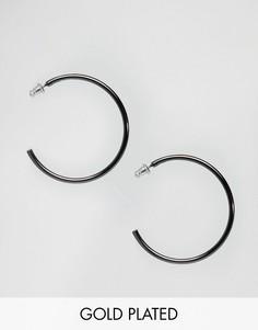 Гематитовые серьги‑кольца Pilgrim - Серый