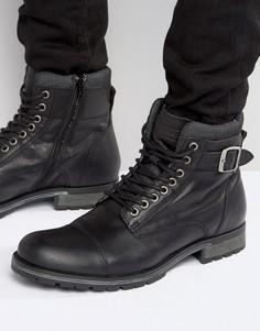 Кожаные ботинки Jack & Jones Albany - Черный
