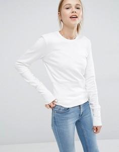 Свитшот с вырезом сердечком Cheap Monday - Белый
