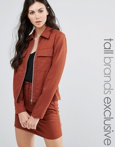 Пиджак от костюма в строгом стиле Fashion Union Tall - Коричневый