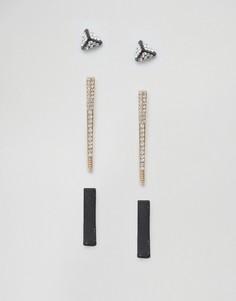 Набор из 3 сережек DesignB - Мульти