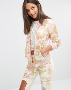 Куртка-пилот с камуфляжным дизайном из пайеток Liquor & Poker - Розовый