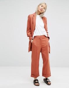 Укороченные брюки с широкими штанинами ADPT - Оранжевый