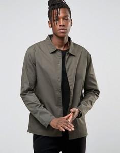 Легкая куртка со скрытой планкой Only & Sons - Зеленый
