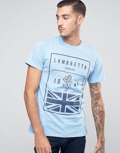 Футболка с британским флагом Lambretta - Синий