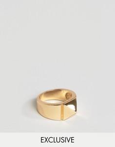 Кольцо с геометрическим дизайном DesignB London - Золотой