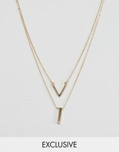Набор из 2 ожерелий DesignB London - Золотой