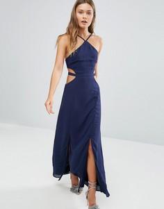 Платье макси с вырезами Pixie & Diamond - Темно-синий
