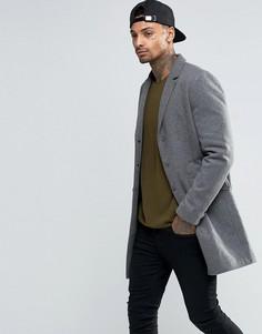 Пальто из смешанной шерсти Troy - Серый