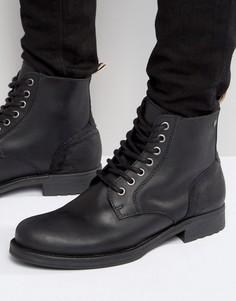 Кожаные ботинки Jack & Jones Sting - Черный