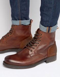 Кожаные ботинки Jack & Jones Sting - Коричневый