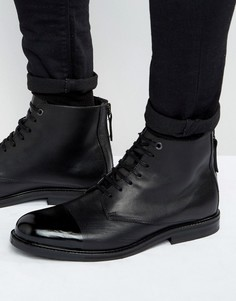 Кожаные ботинки на шнуровке KG Kurt Geiger Chalker - Черный